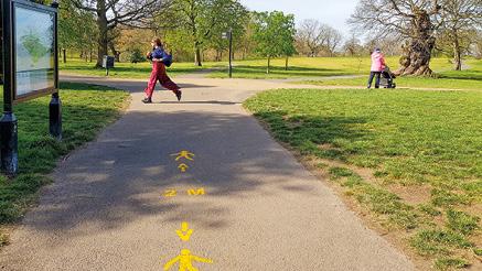 Restriktioner i Greenwich Park.