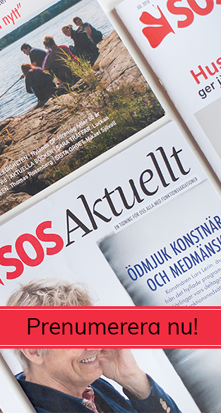 SOS Aktuellt tidningar med texten Prenumerera nu.